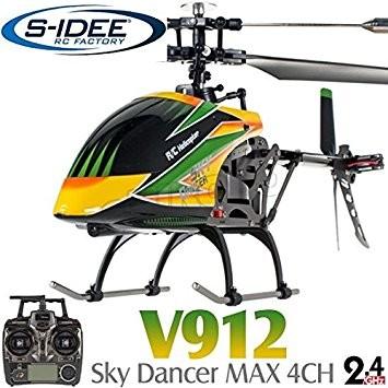 s-idee® 01141 | V912 4.5 Kanal 2,4 Ghz Heli Hubschrauber RC ferngesteuerter Hubschrauber/Helikopter/